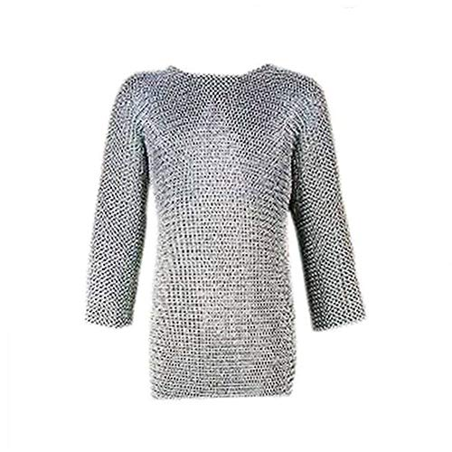 Armory Replicas Medieval Knights Full Sleeve Hauberk Chainmail Large Silver