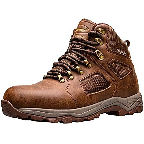 Ansbowey Buty turystyczne męskie damskie wodoodporne buty trekkingowe lekkie buty trekkingowe na zewnątrz buty do chodzenia buty robocze, - A9703ciemny brąz - 39 EU