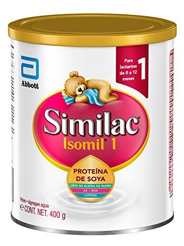 Isomil   Etapa 1 Fórmula Infantil con Base de Proteína de Soya para Bebes de 0 a 12 Meses   400g