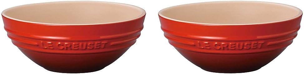 収益キャプテンブライズボンルクルーゼ マルチ ボウル 15cm 2個 セット 耐熱ボウル  チェリーレッド 910311-15-06