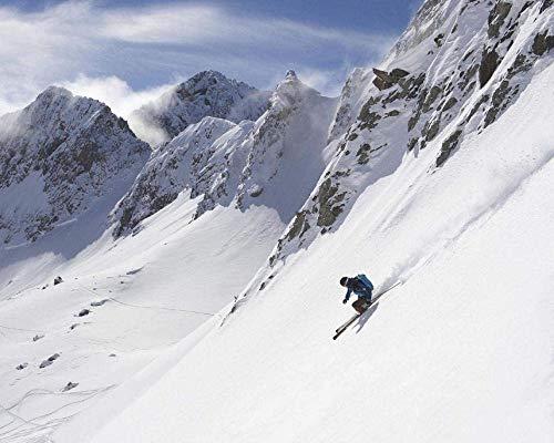 HCDZF Kit de pintura al óleo para adultos, pintura al óleo con pinceles, pigmento acrílico – estación de esquí tres valles (sin marco 40 x 50 cm)