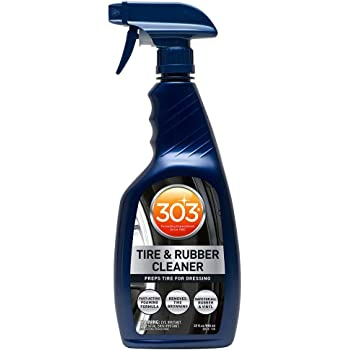 303 Products (30579CSR Tire and Rubber Cleaner - Preps Tires for Dressing - Fast Acting Foaming Formula - Removes Tire Browning - Safe for All Rubber and Vinyl, 32 fl. oz.