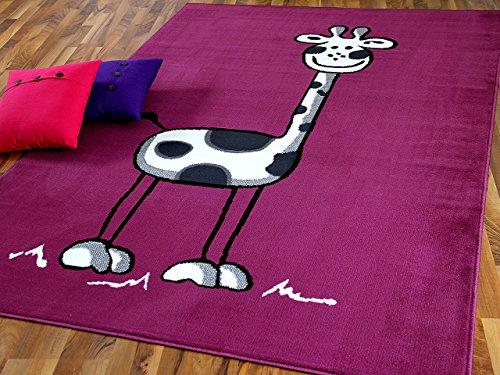 TrendLine Kinderteppich Giraffe Lila in 5 Größen