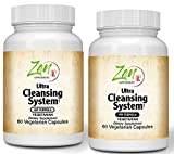 Ultra Cleansing System Detox Kit - 100% Natural Herbal Blends - Maximum Full Body Detox to Support Liver & Colon - for Overall Health & Wellness - AM/PM 30 Day Systems Detox Cleanse