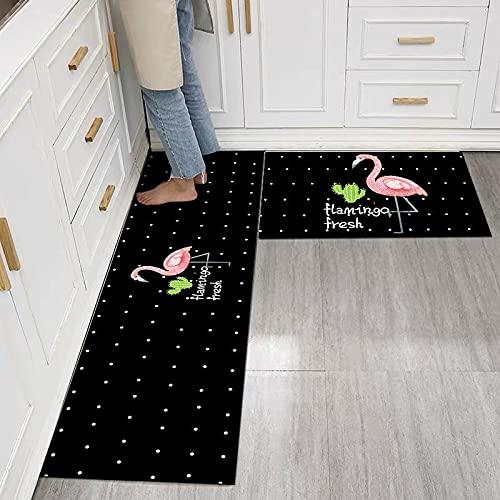 Alfombra de cocina a prueba de aceite a prueba de agua, antideslizante, baño, alfombra suave para el piso del dormitorio, alfombra de moda para sala de estar, alfombra de cocina A3 50x80cm + 50x160cm