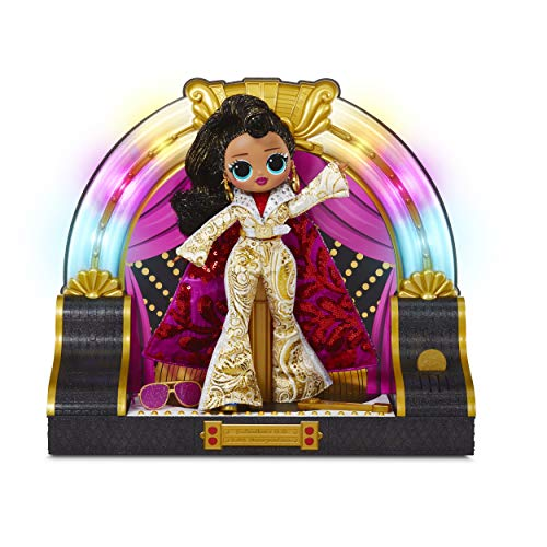 LOL Surprise! OMG Remix 2020 Collector Edition Jukebox B.B. with Token-Triggered Music, Colorful Lights, White and Gold Classic Rock Outfit, Flashy Accessories | Kid Girls 4-15 Years Old