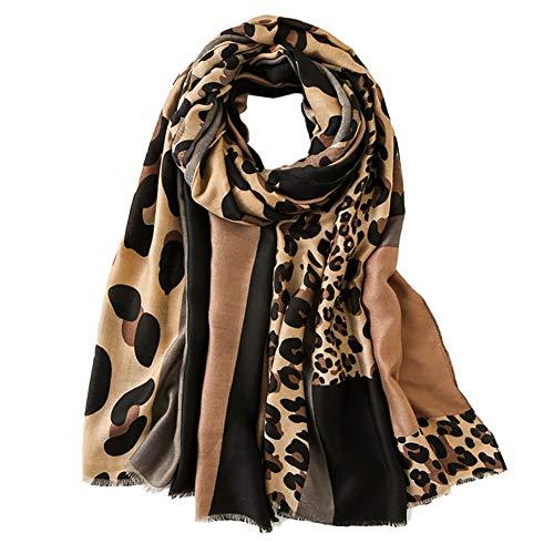 Estampado de Leopardo Bufanda de Mantón para Mujer - Pashmina Estola Señoras Elegante Scarves Pañuelo Chal para el Cuello Otoño Verano Invierno Accesorios de Disfraces (Style B)