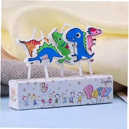 CULER 5 pc/Insieme della Festa di Compleanno del Dinosauro del Fumetto Torta Candele Decorazioni Torta Cake Topper Pick per Partito Torta di Compleanno dei Capretti