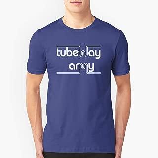 Tubeway Army 'blue' logo design Slim Fit TShirtT shirt Hoodie for Men, Women Unisex Full Size.
