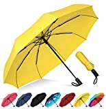 Rain-Mate Compact Travel Umbrella - Windproof, Reinforced Canopy, Ergonomic Handle, Auto Open/Close Multiple