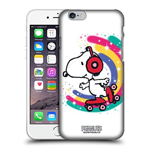 Head Case Designs Licenza Ufficiale Peanuts Skating Colorato Snoopy Passeggiata Aerografata Cover Dura per Parte Posteriore Compatibile con Apple iPhone 6 / iPhone 6s