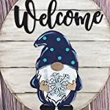 GNOME Door Hanger,GNOME Door Hanger for All Seasons, Heart Triple GNOME Welcome Sign - Welcome Sign Front Door Hanger,Spring Decoration Gift