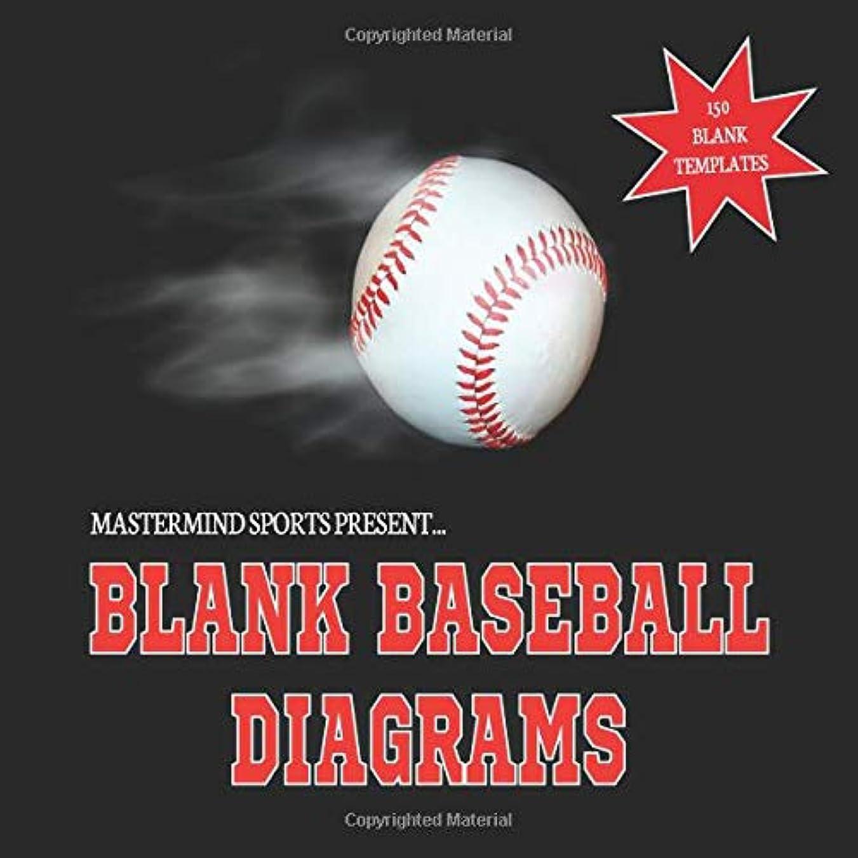 バンドル先シャーMastermind Sports Present...Blank Baseball Diagrams: Baseball Playbook Journal Template Notebook 8.5x8.5 150 Pages Glossy Finish Blank Baseball Field Templates