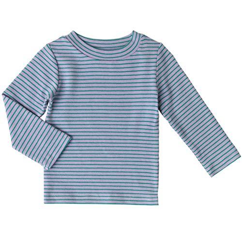 Baby Girls Long Sleeve Tee Little Kids Cotton T-Shirt Crew Neck Tops,(Purple,24M)
