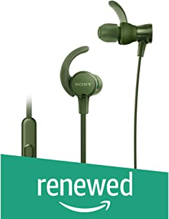 (Renewed) Sony Extra Bass MDR-XB510AS in-Ear Sports Headphones with Mic (Green)