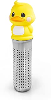 MIKEEP Brew In Cup Tea Infuser Set Cute Design Platinum Silicon Duck