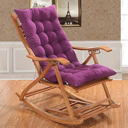 LLLD Cojín reclinable para tumbonas sillas reclinables bandas antideslizantes para exteriores jardín patio relajador para viajes de vacaciones (no incluye silla) (color BROWN, tamaño: 48 x 120 cm)