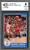 1984-85 star #288 MICHAEL JORDAN SPEC 1985 rookie of the year rookie BGS BCCG 9 Graded Card