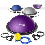 Hop-Sport Balance Ball HS-L058B Balance Trainer mit Zugbändern Ø63,5 cm (grau)