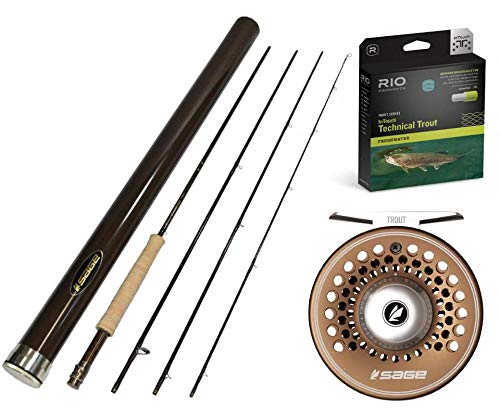 Sage Trout LL 590-4 Fly Rod Outfit : 5wt 9