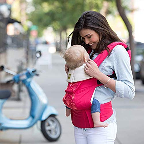 Image of LLLbaby Complete Embossed Luxe SIX-Position 360 Ergonomic Baby & Child Carrier, Coral