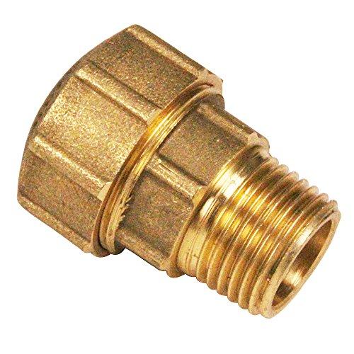Messing Schraubfitting für PE-Rohr Anschluss Übergang 1''AG x 32mm, schwere Ausführung mit DVGW Prüfzeichen