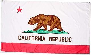 fedsjuihyg Vivid Banderas Color Nacional de 3x5 pies de la Bandera de California UV Resistente a la decoloración con Doble Costura Banderas del Estado de California