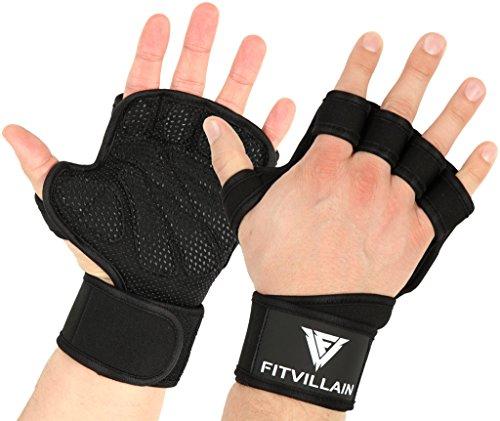 Fitness Handschuhe – Trainingshandschuhe - Crossfit Handschutz Handschuhe mit Handgelenkstütze - Handschuhe Sport, Calisthenics, Krafttraining - Sporthandschuhe Damen und Herren - Gym Gloves (L)