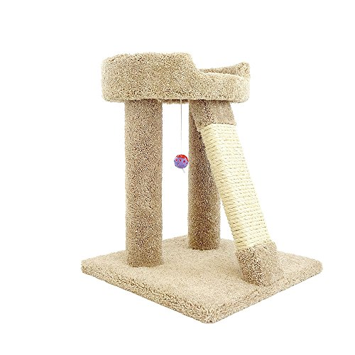 New Cat Condos Premier Elevated Cat Bed, Brown