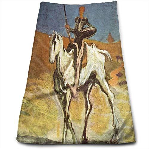 Toalla de baño súper suave de Don Quijote y Sancho Pansaquick