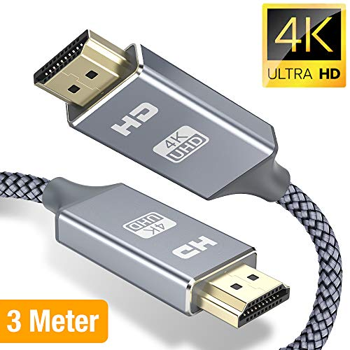 Snowkids Hdmi kabel, Ultra High Speed 18Gbit/s Hdmi 2.0 kabel, Ultra HD 4K 60Hz HDMI 2.0 a/b, 1.4a, video 4k UHD 2160p, 1080p, ethernet, 3D, ARC, CEC-Xbox PS3 PS4 PC