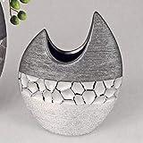 formano Vase Silber-grau flach 21 cm 739896