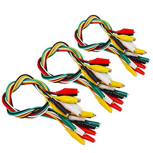 Senven®30 Pcs Cocodrilo Cable Puente, Alligator Clip Wire Test Leads Set con Pinzas de Cocodrilo Cable de Puente de Doble Final de -53cm / 20.8 pulgadas (5 colores)