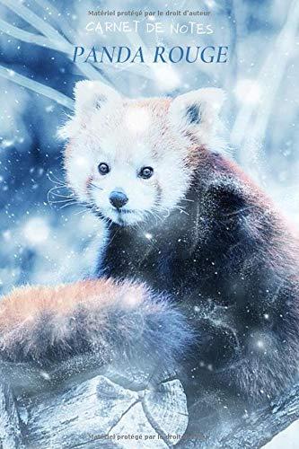 Carnet de notes panda rouge: Meilleur cadeau pour les passionnés des pandas, 120 pages lignées.