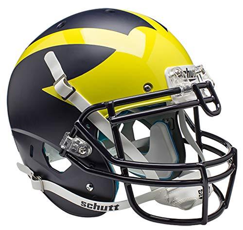 Schutt Sports Authentic Game-Day Michigan Wolverines Fußballhelm, Blau Alternate 1