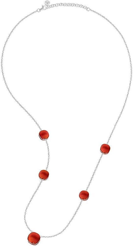 Morellato collana da donna, collezione gemma, in argento e pietre cat eye 8033288861942