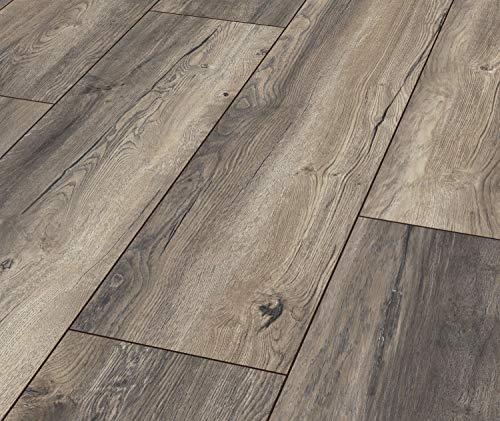 Laminat Exquisit Plus Harbour Oak grey 1 Paket = 2,694 qm = 8 Dielen = 15,95 Euro/qm