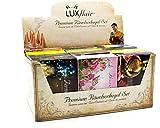 Luxflair Conos de Incienso/Fumadores Mezcla Premium Paquete Grande XXL. Clsico, Floral, afrutado, Navidad - una Fragancia para Cada Mes. Incluye Soporte de Cono.