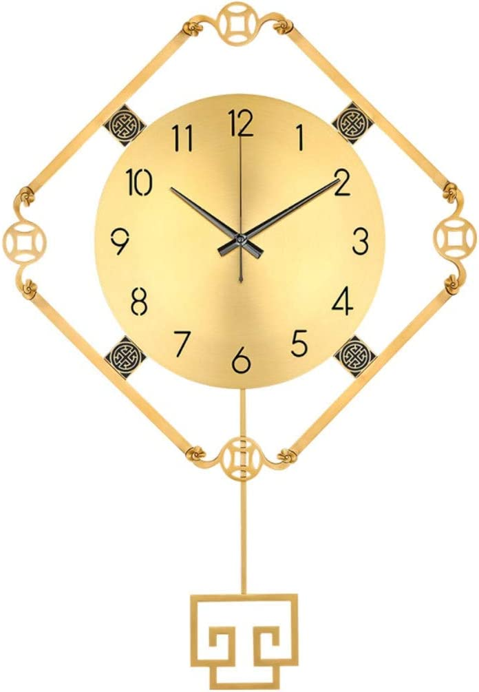 Challenge the lowest price of Japan MQH Perfect Clock Pure Copper Fashion Living Wall Atm New popularity Room
