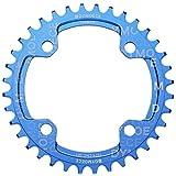 Dymoece Fahrrad Kettenblatt 104BCD 32T/34T/36T/38T für 9 10 11-Fach Runde - geeignet für die meisten Shimano- und Sram-Kurbelsätzen, Blue, 32T