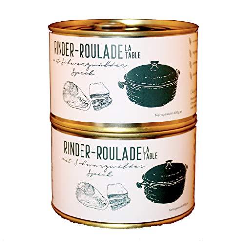 Restaurant La Table   Rinder-Roulade mit Schwarzwälder Speck   2x 400g   Handgemacht   Keine künstlichen Zusätze   Ohne Geschmacksverstärker