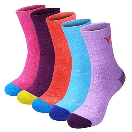 Calcetines de Senderismo para Mujer de 5 Pares, Calcetines de Rendimiento múltiple de Espesor Completo para Trekking Excursión de Senderismo y Otros Botines de Escalada, tamaño: Mujeres 35-40