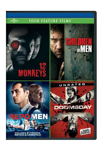 12 Monkeys / Children of Men / Repo Men / Doomsday Four Feature Films [DVD]