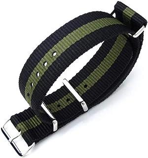 Cinturino MiLTAT 20mm, 21mm o 22mm G10 Cinturino orologio militare Cinturino in nylon balistico, lucido - Nerok & Military...