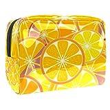 Bolsa de maquillaje portátil con cremallera bolsa de aseo de viaje para las mujeres práctico almacenamiento cosmético bolsa brillante amarillo limón