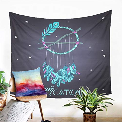 N / A Tapestry home decoration Dreamcatcher Tapestry Wall Hanging Sandy Beach Picnic Rug Camping Tent Sleeping Pad Home Decor Bedspread Sheet Wall Cloth
