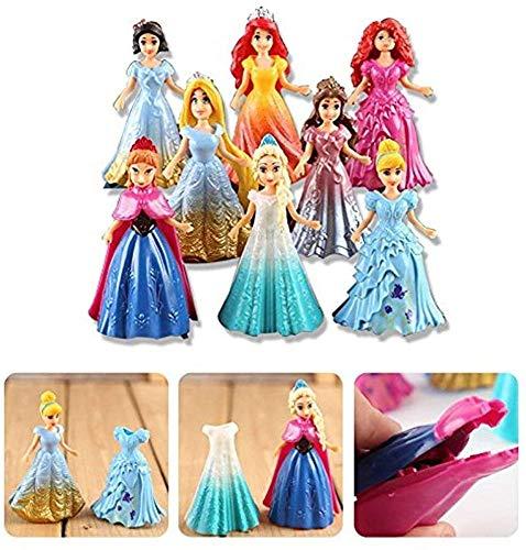 Be-Creative - Juego de 8 figuras de acción cambiadas de vestido de princesa para niños