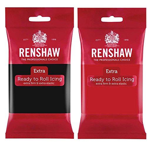 RENSHAW FONDANT - PACKS DE DOS UNIDADES (Negro y Rojo)