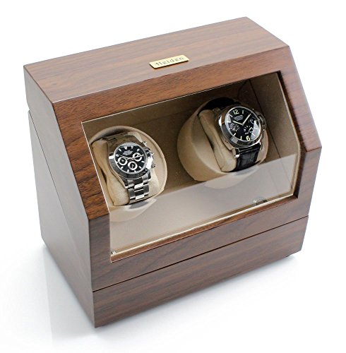 [ハイデン] Heiden ウォッチワインダー Battery Powered Dual Watch Winder in Walnut HD10-WALNUT [並行輸入品]