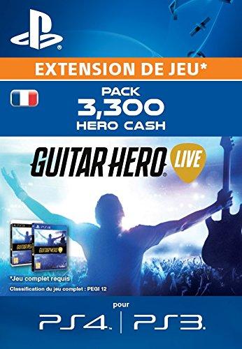 Guitar Hero Live - Pack 3300 Hero Cash [Extension De Jeu] [Code Jeu PSN PS4 PS3 - Compte français]